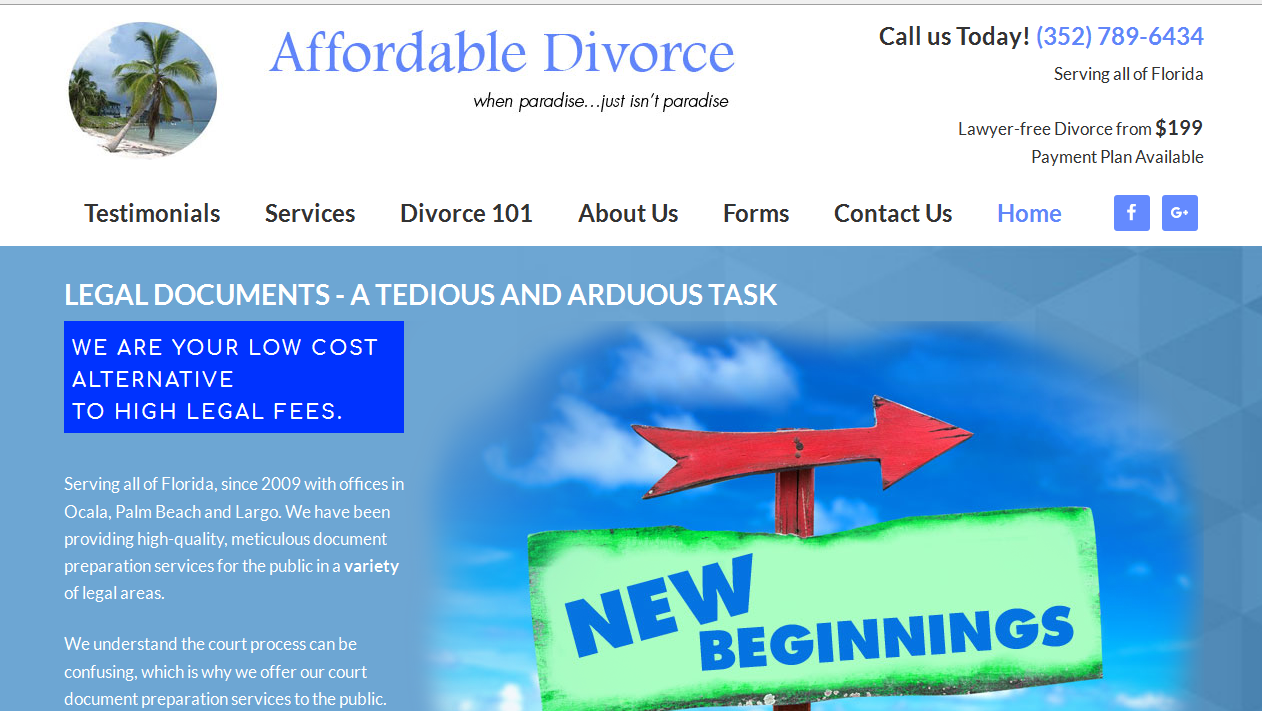 Cheap Divorce Ocala